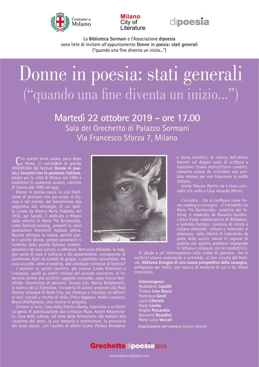 """Stati generali di """"Donne in Poesia"""""""