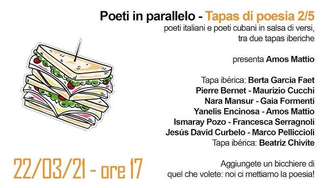 TAPAS DI POESIA – A las cinco de la tarde, La Casa della Poesia di Milano – 21/03/21: 1/5